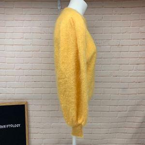 Escada Sweaters - ESCADA Yellow Superkid Mohair Vintage Sweater 38